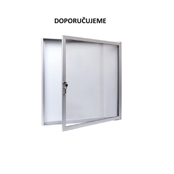 Jednokřídlé vitríny, hl. 40 mm